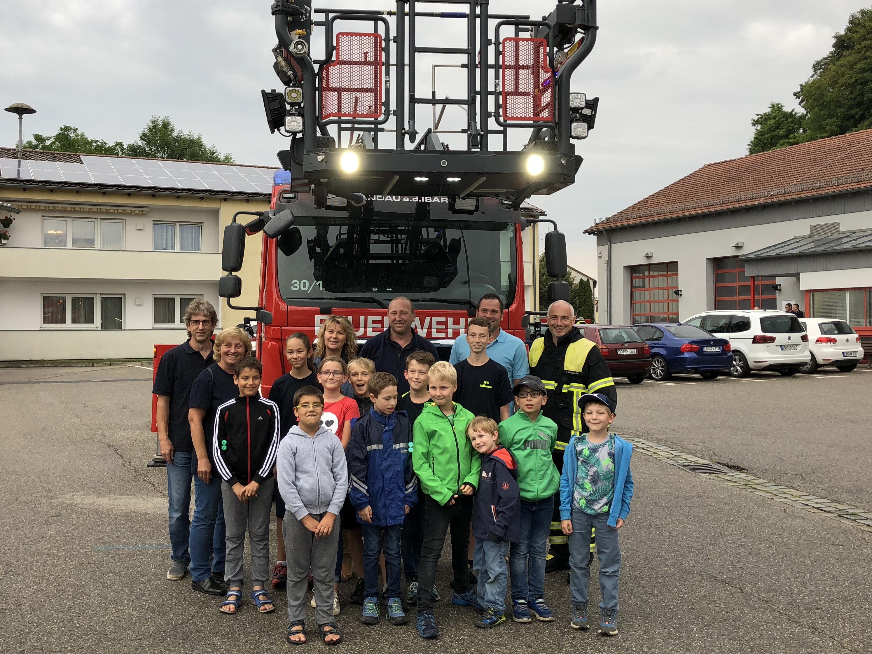 Fire-Kids bei der FF-Landau